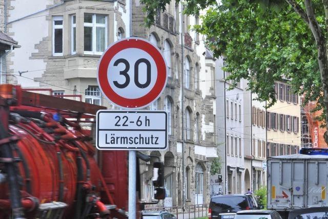 Einige Fraktionen wollen auch tagsüber Tempo 30 in Freiburg