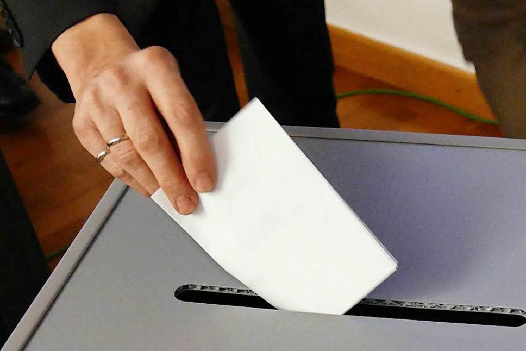 Im Gemeinderat in Staufen selten in Gebrauch: Die Wahlurne  | Foto: Hans-Peter Müller