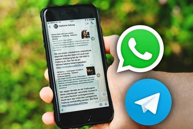 Die BZ schickt Ihnen jetzt Nachrichten per WhatsApp und Telegram