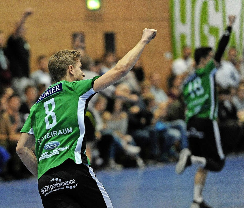 Geballte Fäuste bei  Florian Herzog, d...fweierern beim  Sieg in der Hinrunde.     Foto:  PresseBüro Schaller