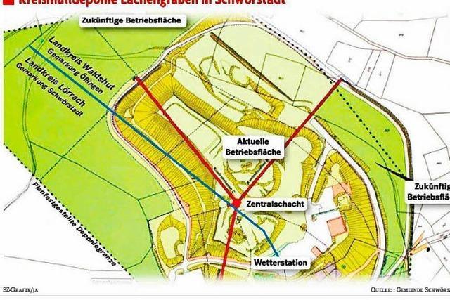 Deponie Lachengraben wächst in den Landkreis Lörrach hinein
