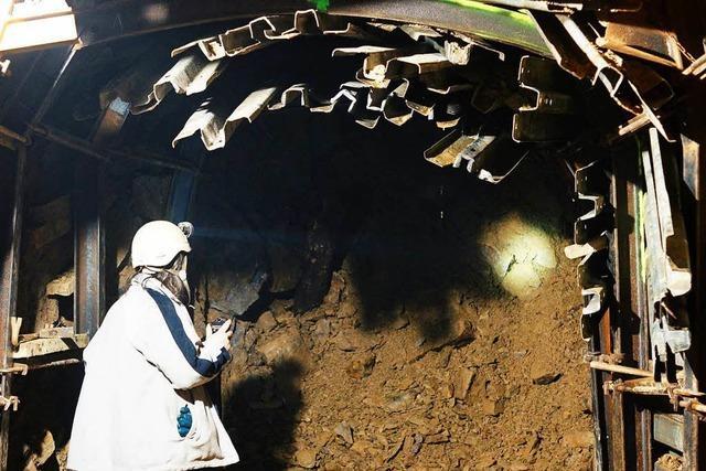 Bergmannsverein legt in Wieden zugesprengten Stollen frei