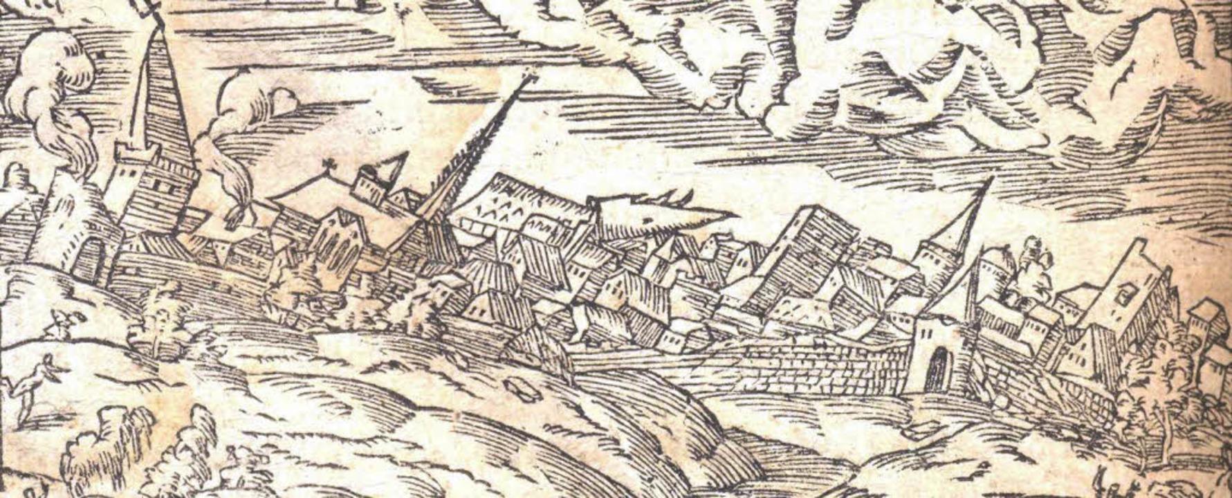 Das verheerende Basler Erdbeben, das s...torischen Erdbeben sehr gut erforscht.  | Foto: Museum am Burghof