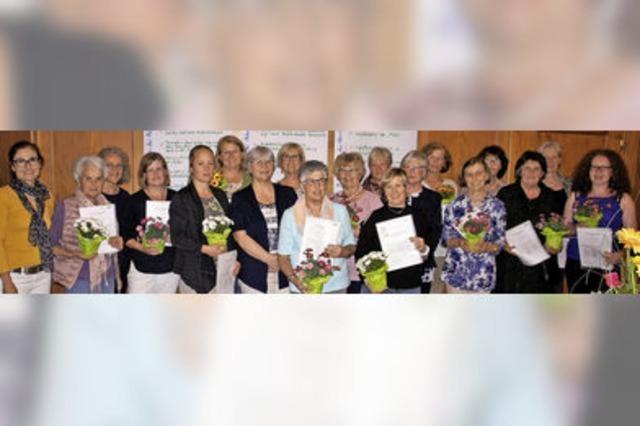 Lizenz zum Helfen für 21 Frauen