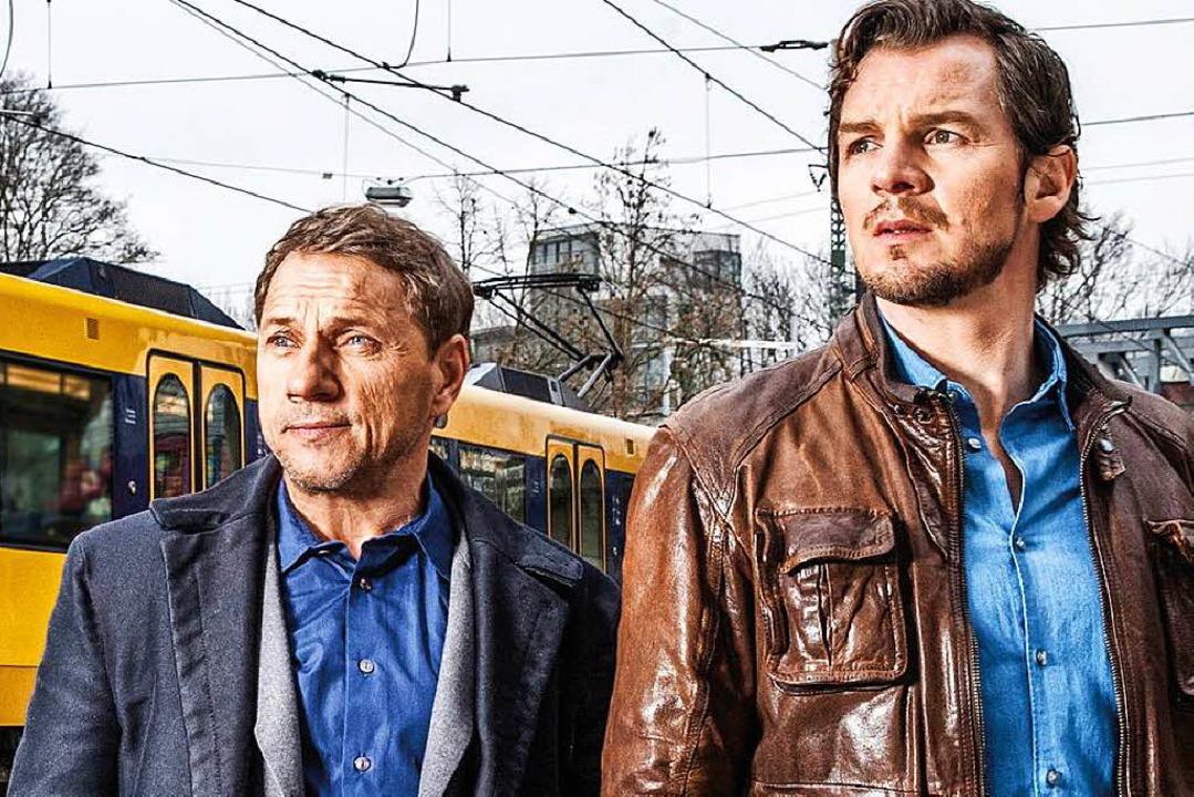 Sie treffen die Gewinner: Richy Müller (links), Felix Klare    Foto: SWR