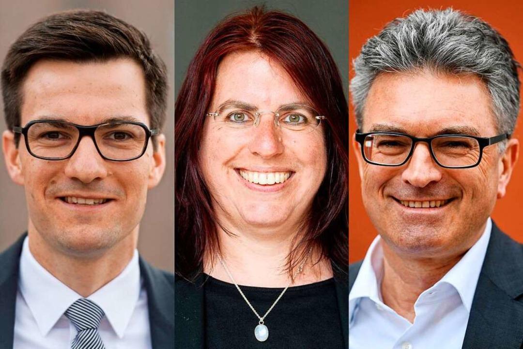 Am Montag auf dem Podium im E-Werk: Ma...rn, Monika Stein und OB Dieter Salomon  | Foto: dpa