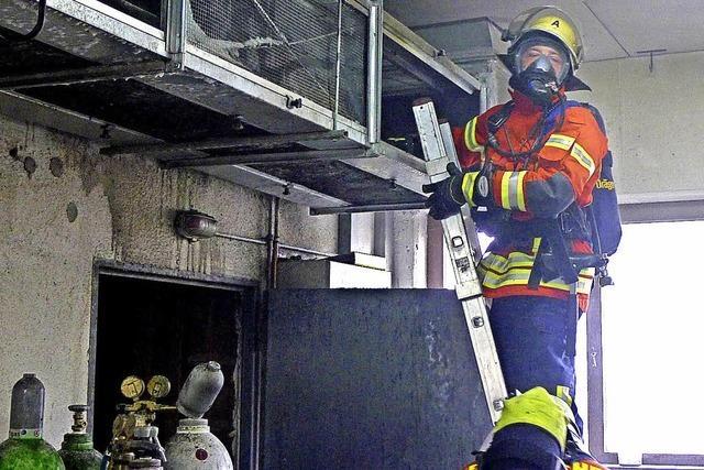 Feuer in Belüftungsanlage ist schnell gelöscht