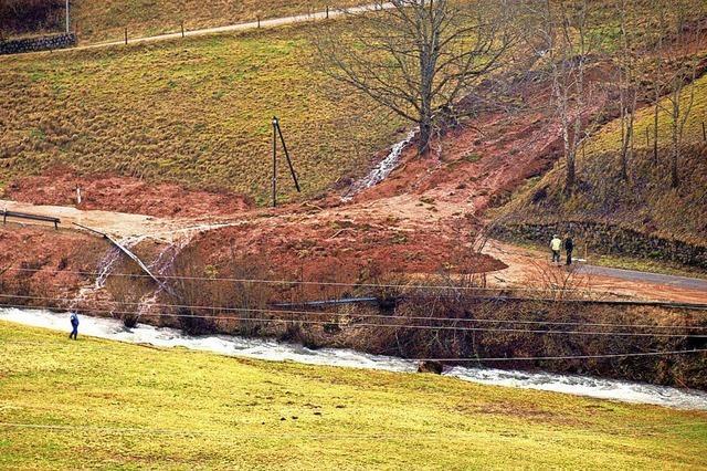 Erdrutsch-Sanierung kostet 90 000 Euro