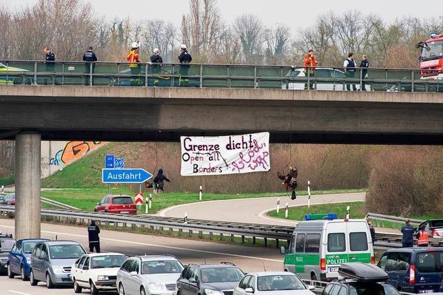 400 Euro Strafe für Teilnahme an einer Autobahnblockade