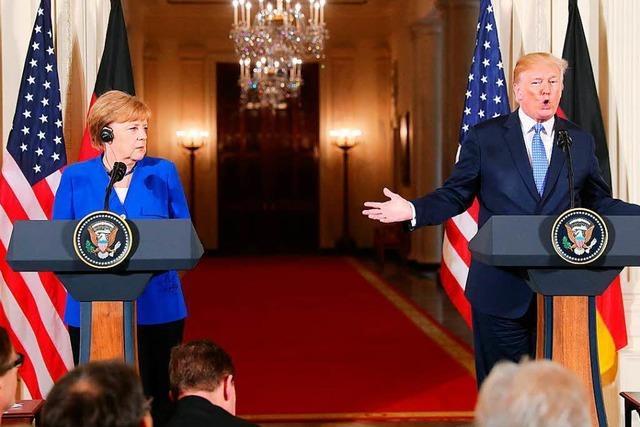 Klare Worte bei Merkels Besuch in Washington