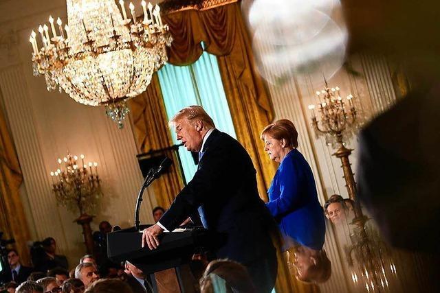Merkels Treffen mit Trump: Freundlich im Ton, hart in der Sache