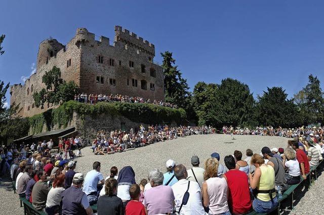 Mittelalterfestival auf der Burg Kintzheim im Elsass