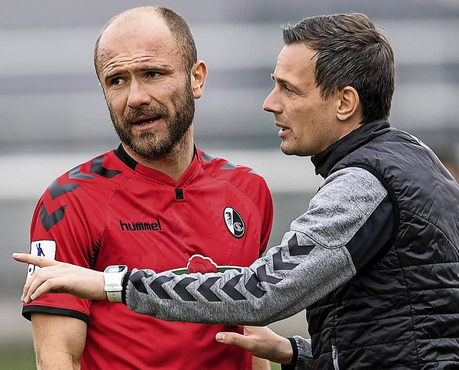Bilden derzeit ein erfolgreiches Gespa...Banovic und Trainer Christian Preußer.  | Foto:  Patrick Seeger