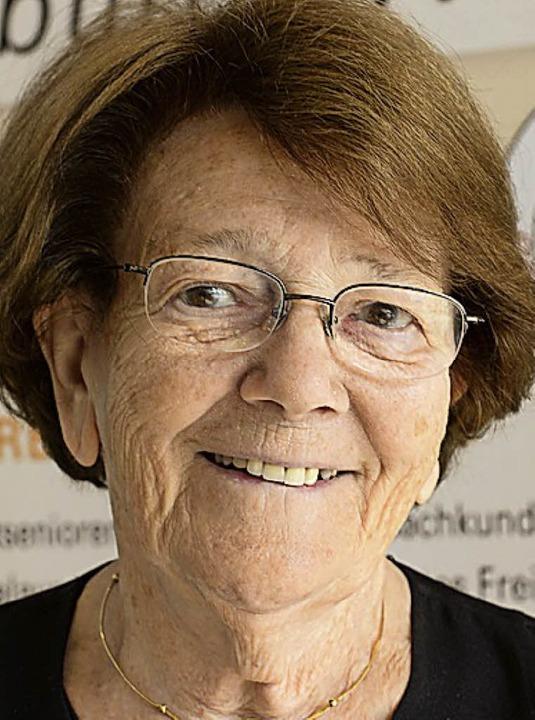 Ausgezeichnete 83 Jahre: Ellen Breckwoldt.   | Foto:  Ingo Schneider