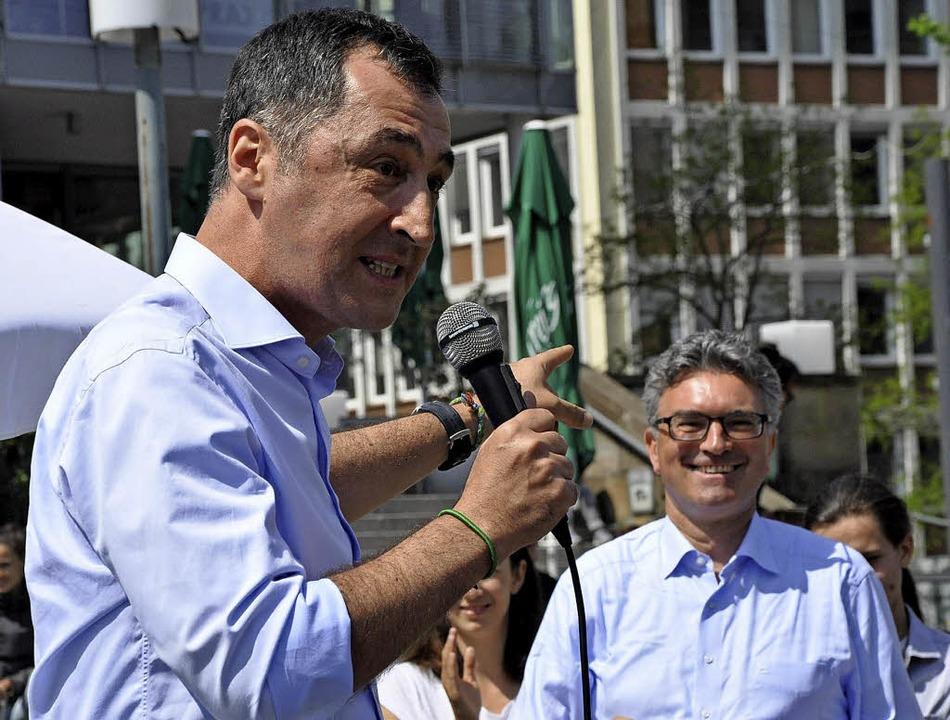 Cem Özdemir und Dieter Salomon  | Foto: Jens Kitzler