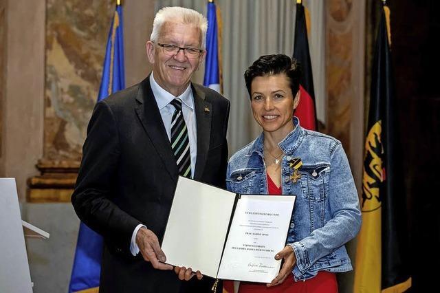 Besondere Ehre für Sabine Spitz