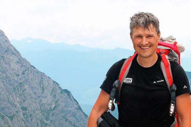 Bernd Gerber ist fast ausschließlich auf nackten Füßen unterwegs