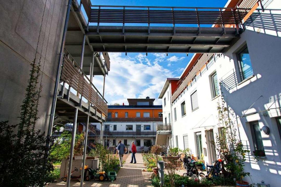Fünf Häuser, ein Innenhof und 72 Menschen: das Quartier Ramie in Emmendingen  | Foto: Patrik Müller
