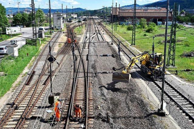 Am Wochenende konnten keine Züge über die Rola nach Freiburg fahren