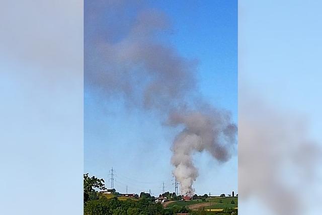Großbrand in Zeiningen