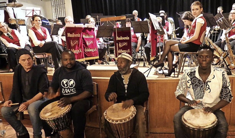 Eine musikalische Abenteuerreise bot d...inlagen der Rhythmusgruppe Terricafo.   | Foto: B. Flier