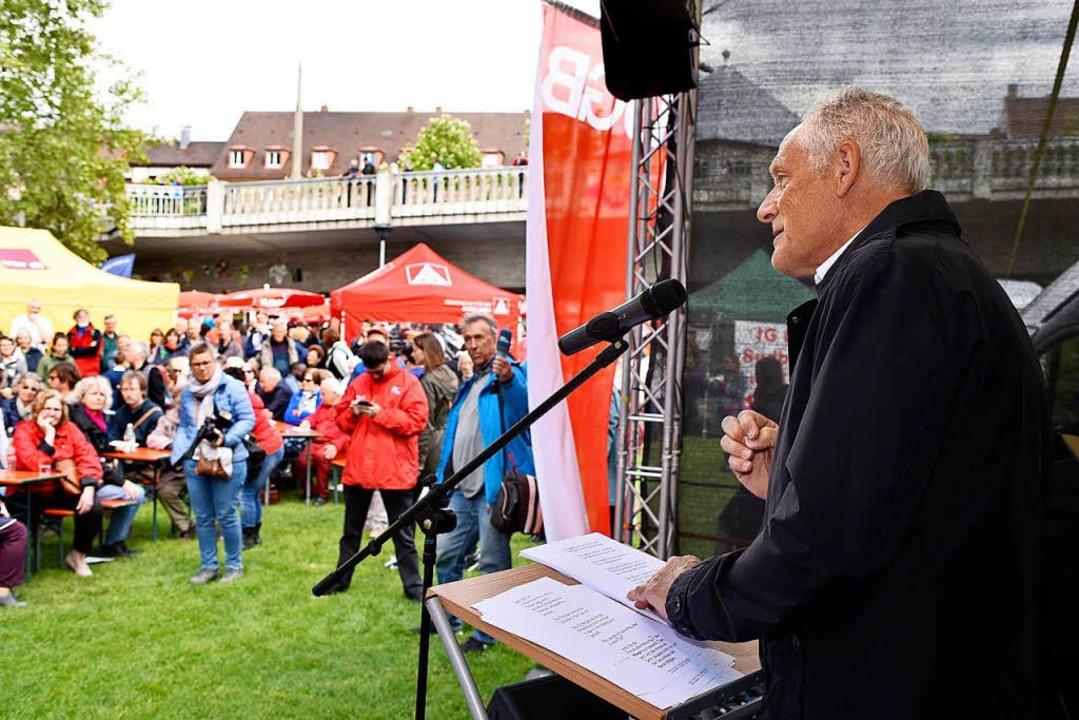 Martin Kunzmann forderte eine höhere Tarifbindung.  | Foto: Thomas Kunz