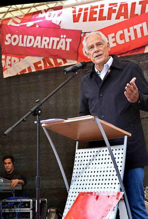 Martin Kunzmann, der Landesvorsitzende...undes, sprach am Dienstag in Freiburg.  | Foto: Thomas Kunz