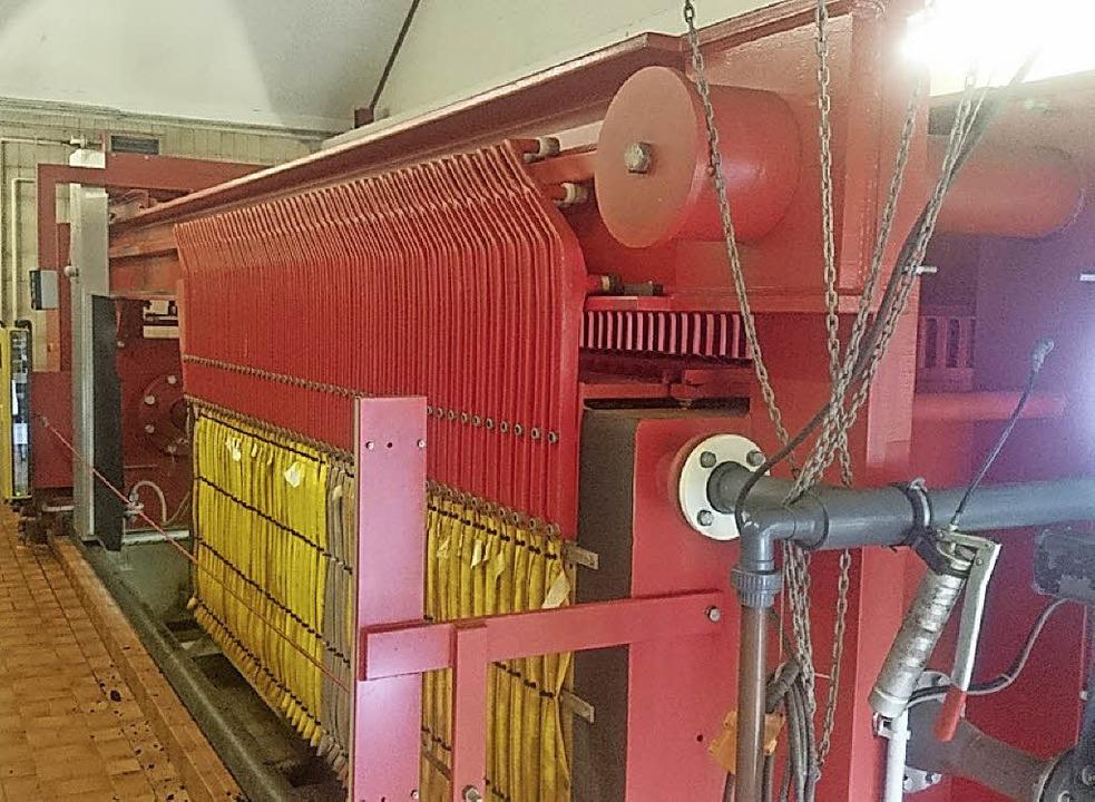 Die alte Kammerfilterpresse.   | Foto: Privat