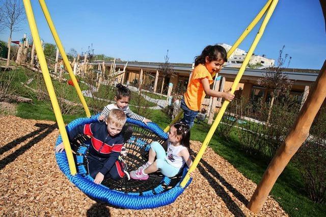 Wie arbeitet der Kindergarten mitten auf der Landesgartenschau?