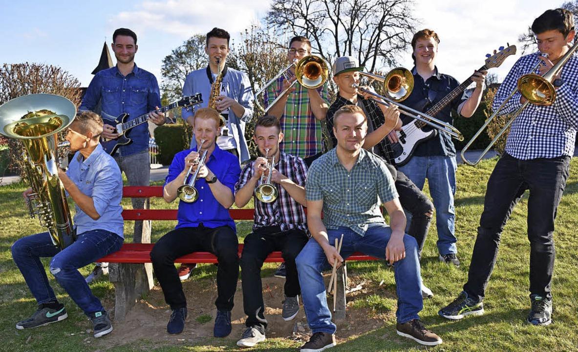 Brasstastisch (von links):  Fabian Web...noll, Henry Heitzmann und Silas Schwab  | Foto: Hans-Jochen Köpper