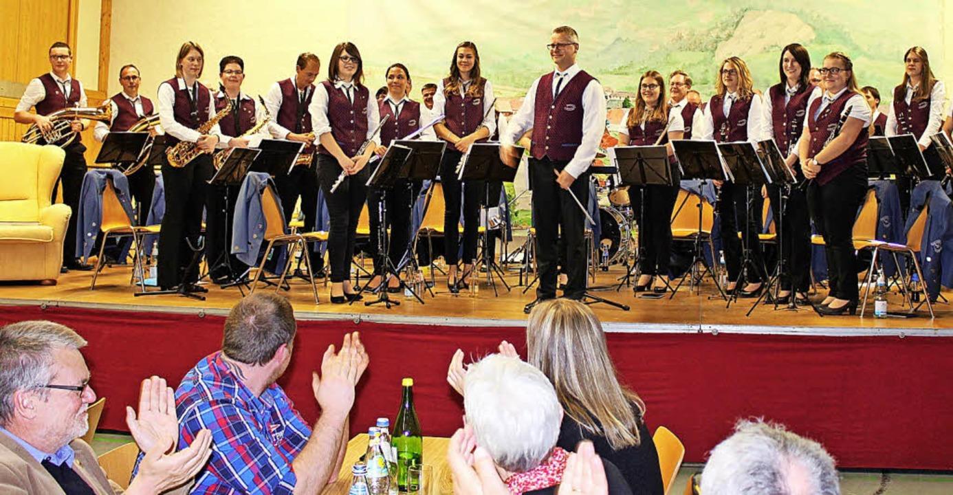 Viel Applaus gab es beim Blasmusikabend am Wochenende.   | Foto: Klabund