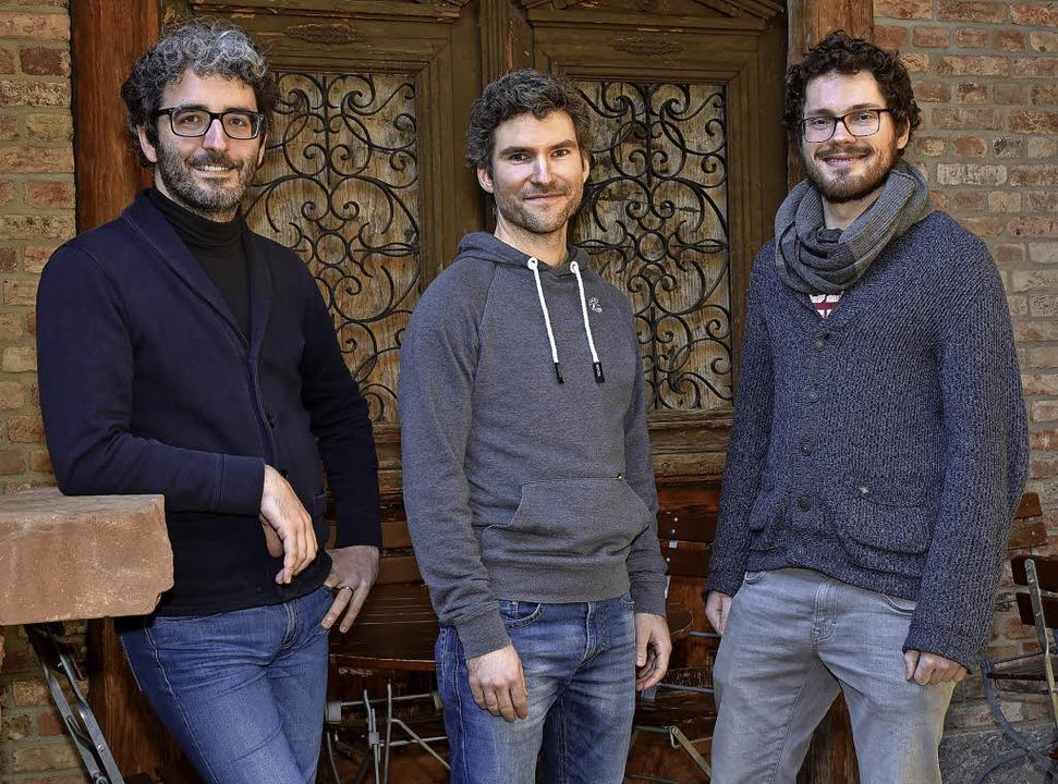 Bernhard Schmidt, Julian Knörzer und Adrian Goldner (von links)   | Foto: thomas kunz
