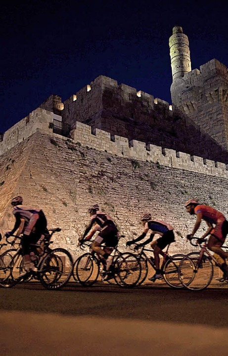Ein Radrennen in der Jerusalemer  Altstadt   | Foto: dpa/Archiv
