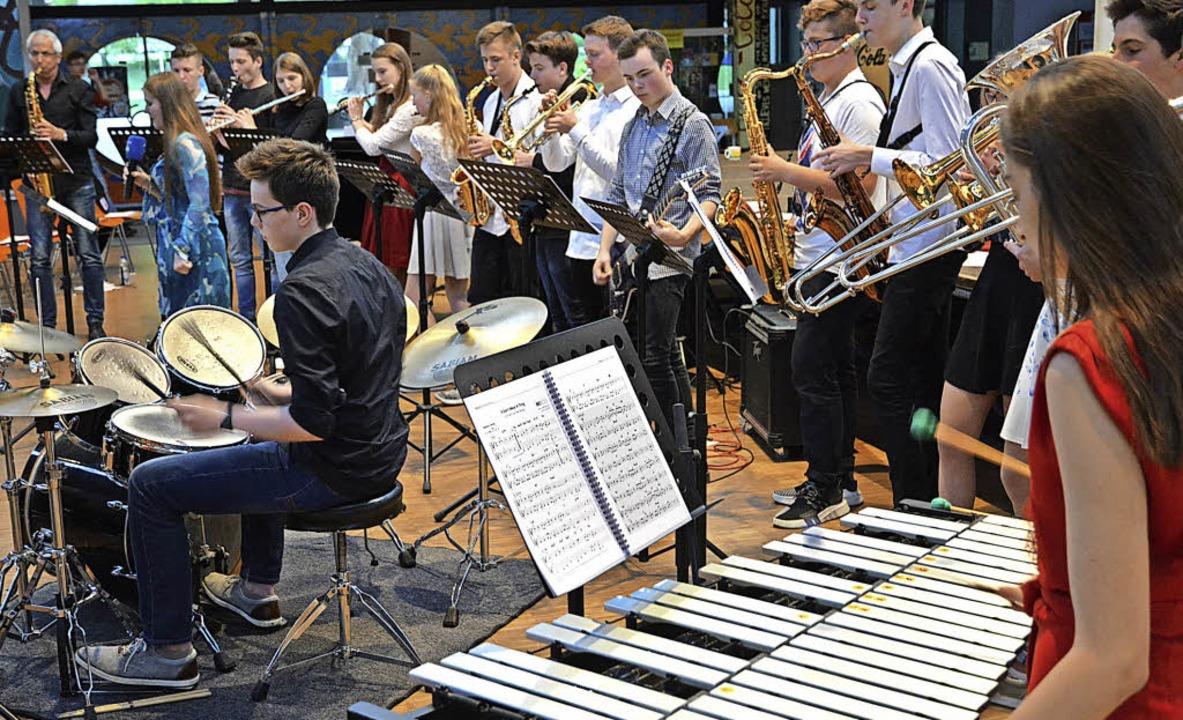 Vermittelten beim großen Finale eine A...filklassen des GGE beim Vorspielabend.  | Foto: Benedikt Sommer