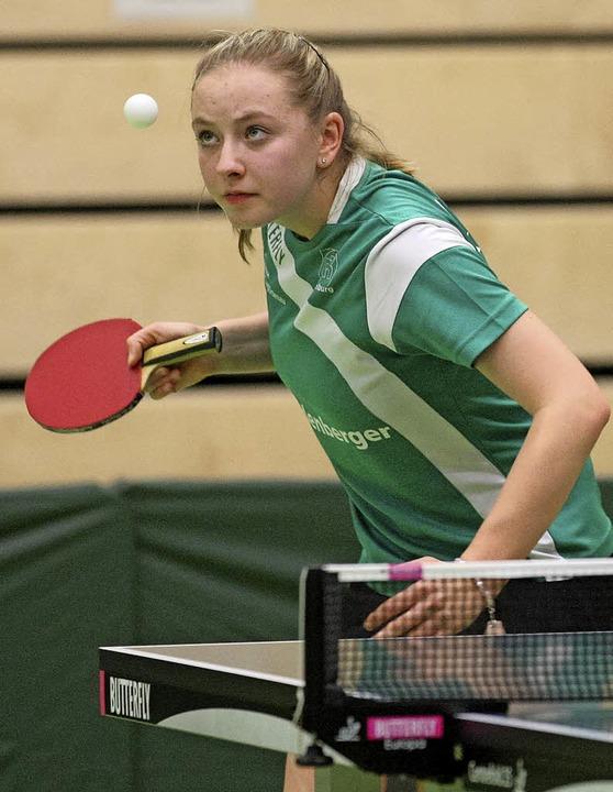 Jana Kirner geht als Nummer zwei in die Drittliga-Saison.   | Foto:  A. Buss