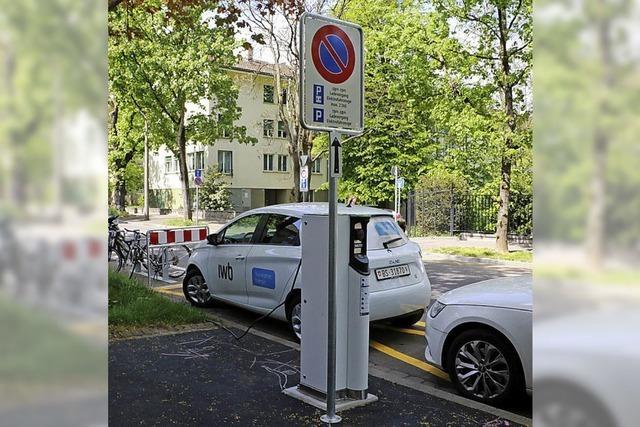 Zehn neue Ladesäulen für Elektroautos in Basel