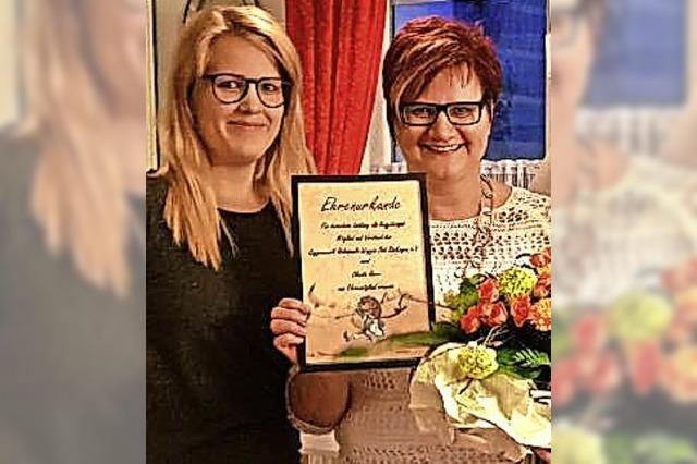 Claudia Herr ist Ehrenmitglied der Holzspuele-Waggis