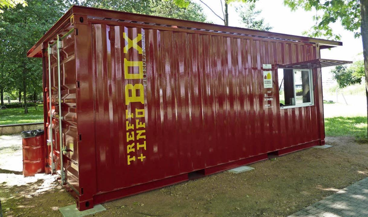 Schafft Freiräume: die rote Box im Rheinpark   | Foto: Stadtverwaltung