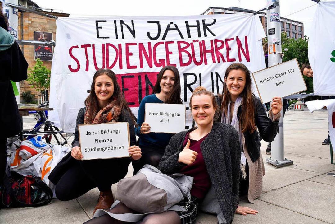 Kundgebung gegen Studiengebühren in Freiburg  | Foto: Thomas Kunz