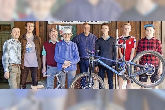 Fahrräder werden flott gemacht