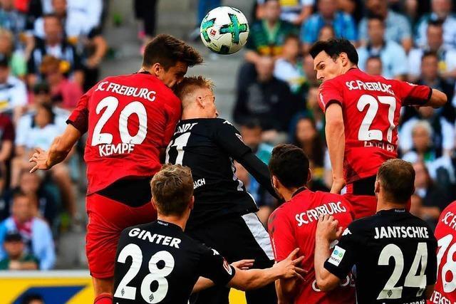 Der SC Freiburg verliert gegen Mönchengladbach 1:3