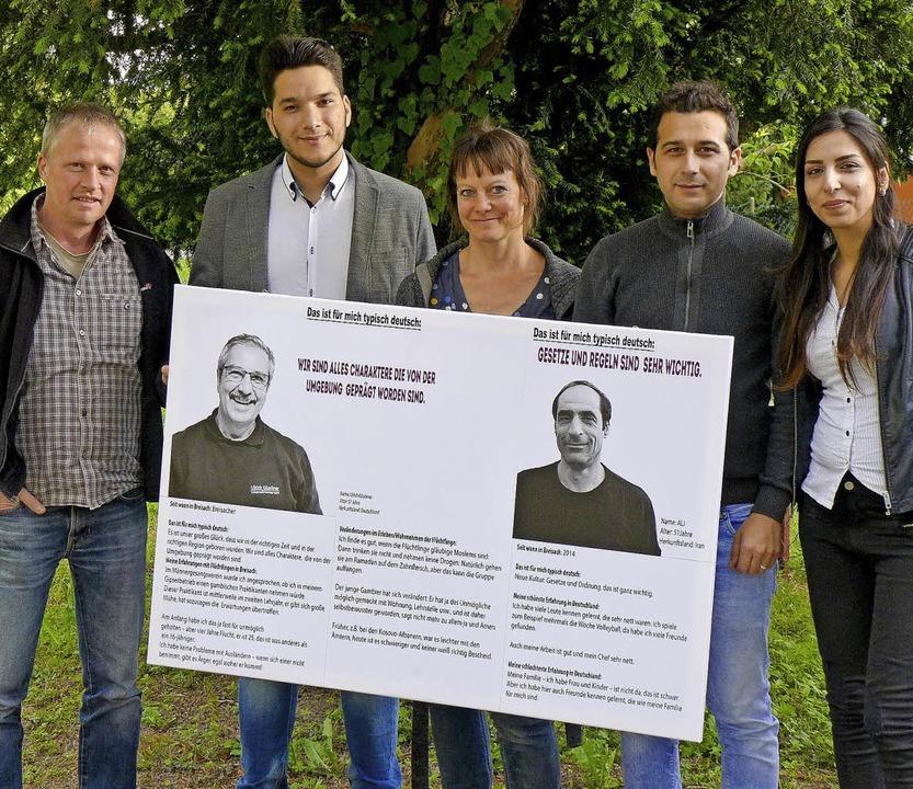 Sie haben das Projekt ins Leben gerufe...üchner, Milad Adrah und Roula Younes.   | Foto:  Ute Schöler