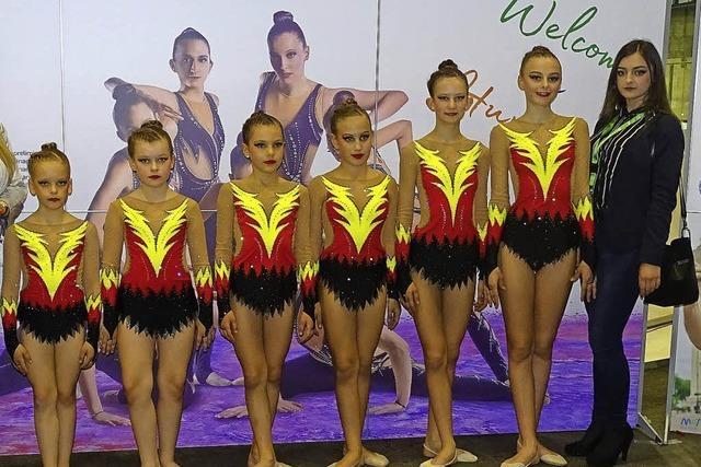 Mischung aus Tanz und turnerischen Elementen