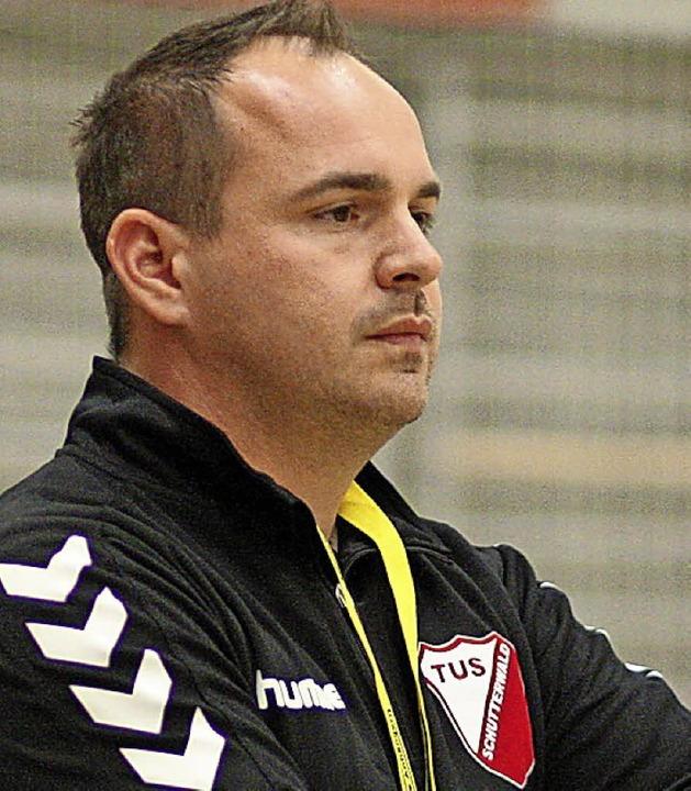 Gelassen: TuS Trainer Nico Baumann  | Foto: Alexandra Buss