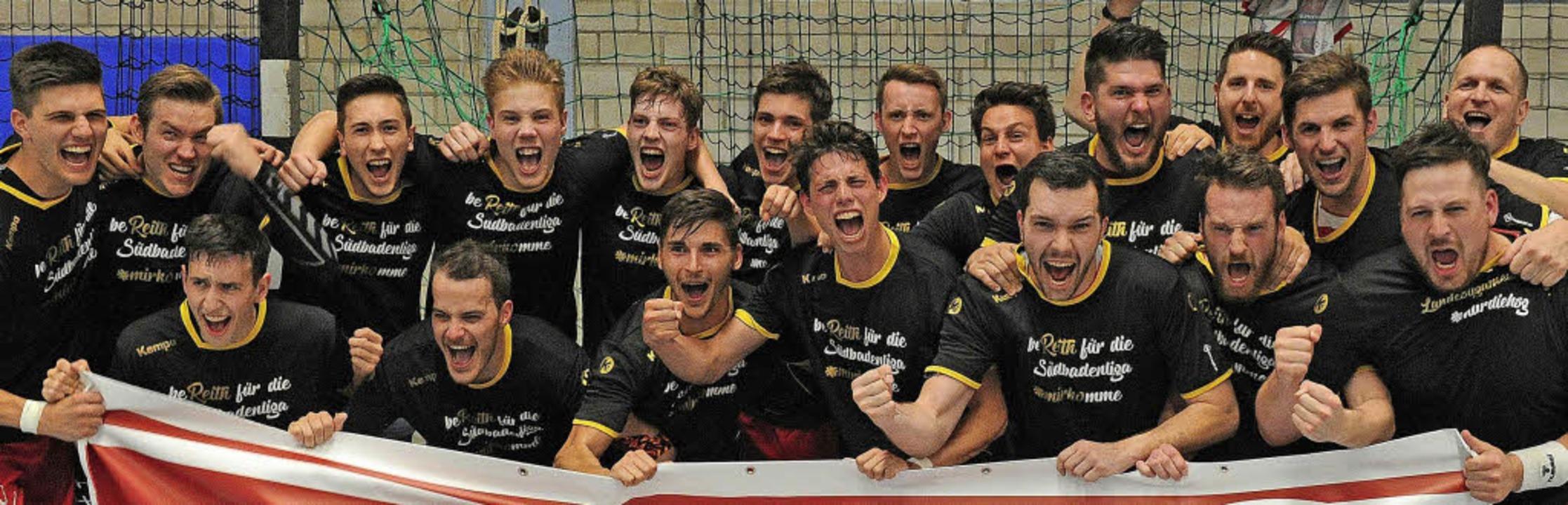 Glückliche Gesichter, nachdem sich die...elohnt hat, wie Stephan Richini sagt.   | Foto: Pressebüro Schaller