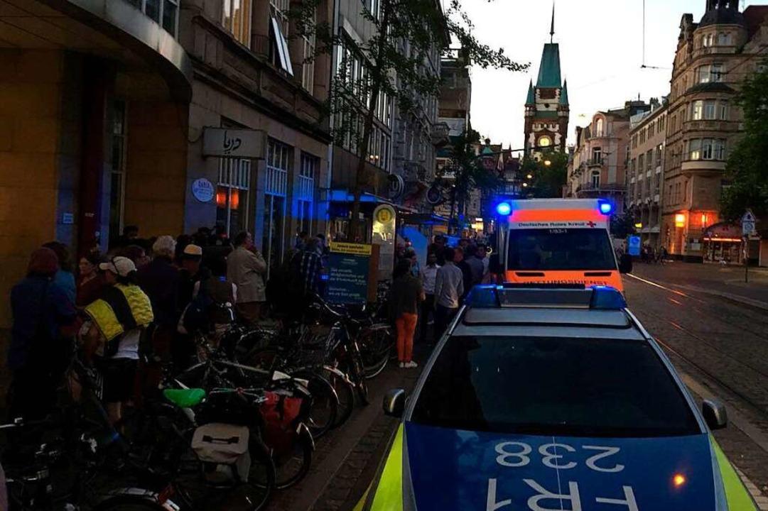 Die Polizei war rasch vor Ort.  | Foto: Joshua Kocher