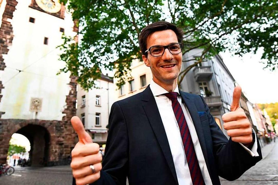 Martin Horn ist ab dem 1. Juli Bürgermeister von Freiburg.  | Foto: dpa
