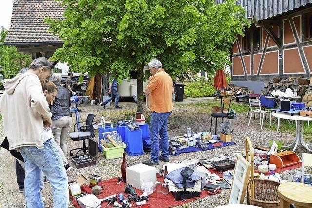 Kaum Besucher beim Flohmarkt