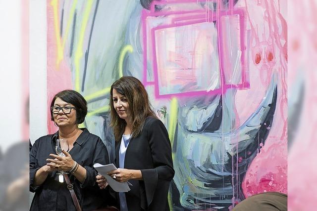 Malerischer Ausdruck in Pink für die Urangst vor dem Terminator