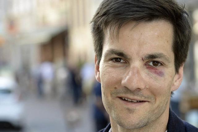 Blaues Auge für Freiburgs neuen OB Martin Horn